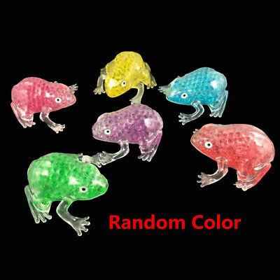 Gel Bead Filled Transparent Frog AntiStress Ball Kids Autism Squeeze Sensory Toy