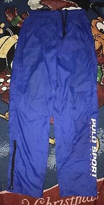 Vtg Polo Sport Ralph Lauren Big Logo Spell Out Pants 100% Nylon Medium L
