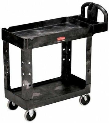 Rubbermaid 4500-88 Tray Shelf Plastic Service Cart 2 Shelves 5' Casters