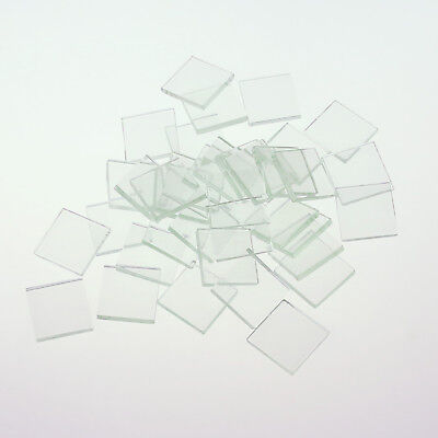 """Square Clear Glass 1"""" Mosaics Tiles Craft Necklaces Pendant 300 G/ Pack"""