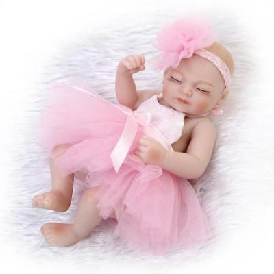 "Mini 10"" Preemie Full Body Vinyl Reborn Baby Girl Dolls Lifelike Newborn Doll"