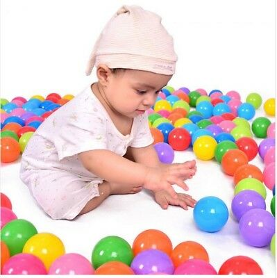 100pcs/lot Eco-Friendly Colorful Soft Plastic Water Pool Ocean Wave Ball BabyToy