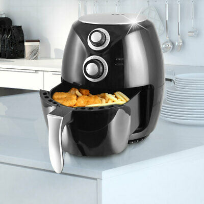 Heiß Luft Fritteuse 1400 W Cool Touch Haushalt Ofen Fritöse 3,6 L Big Light