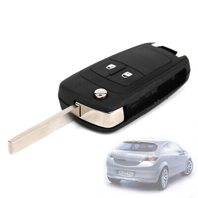 2 Button Flip Key Fob Case & Uncut Blade Fob For Vauxhall Opel Astra Insignia