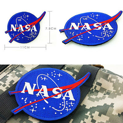 NASA Space Center Astronaut Program Vector Embroidery Patch Badge Blue New