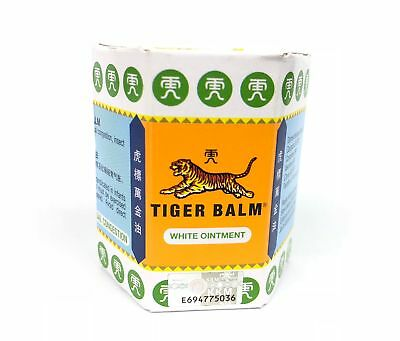 10 Gram TIGER BALM HERBAL WHITE OINTMENT MASSAGE RELIEF MUSCLE PAIN for 3 pack