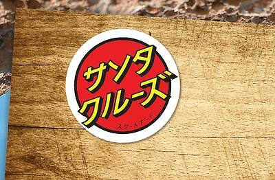 Lot of 2 Pieces Vintage Santa Cruz Japanese Skateboard Old School Vinyl Stickers