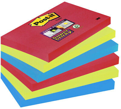 16 Blöcke Haftzettel 76x76mm 3M Post-it Haftnotizen Super Sticky Z-Notes