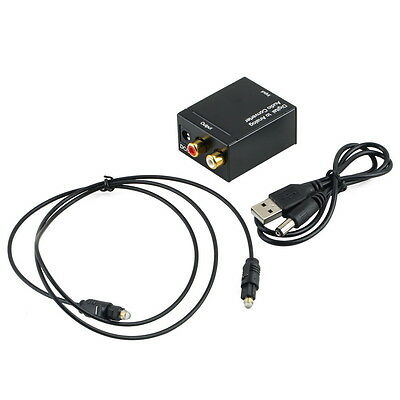 Coaxial Digital Optical Toslink Signal to Analog Audio Converter Cable DAC M