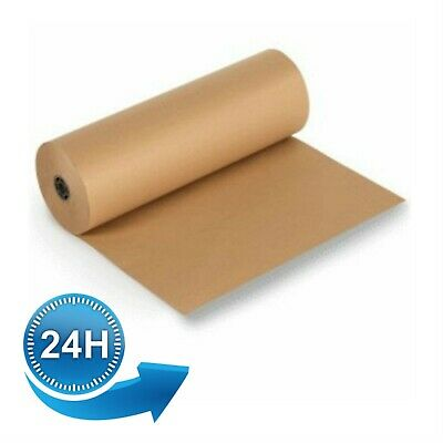 750 x 200M Heavy Duty Kraft Brown Wrapping Paper Roll Packing Packaging 90GSM