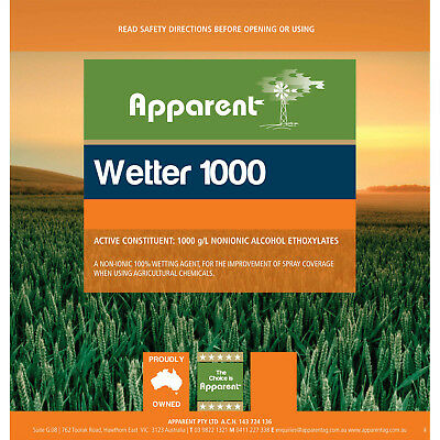Apparent Wetter 1000 g/L NONIONIC ALCOHOL ETHOXYLATES For Use With Herbicides 1L