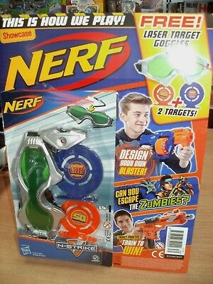 Showcase magazine Issue #30 2018 Nerf + Laser Target Goggles & 2 Targets