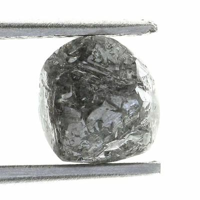 1.07 ct. Gray Color Loose Uncut Rough Diamond With Round Shape