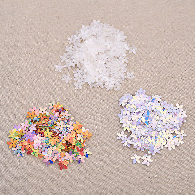 Various Color Flower Loose sequins Paillettes Hole Sewing Wedding DIY Craft