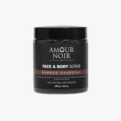 NEW AMOUR NOIR BAMBOO AND CHARCOAL FACE & BODY SCRUB EXFOLIANTS 250g