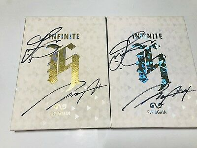 INFINITE H - 2ND [FLY AGAIN]  Autographed(Signed) ALL MEMBER  PROMO ALBUM KPOP