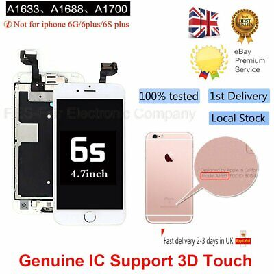 For iPhone 6S Replacement Digitizer LCD Touch Screen White  Camera UK