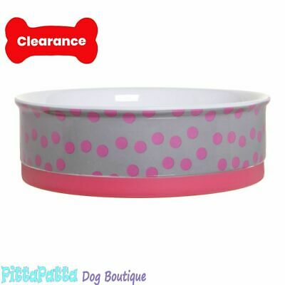 DOOG Ceramic Bowl Pink Dogs and Trees