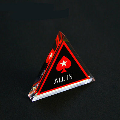 """PokerStars 3"""" Acrylic Texas Hold'em All-In Button"""