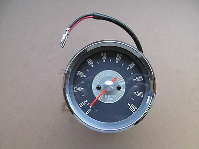 99-0166 1966-70 Bsa Triumph Ajs 4:1 Tachometer Rev Counter Clock - Grey Face