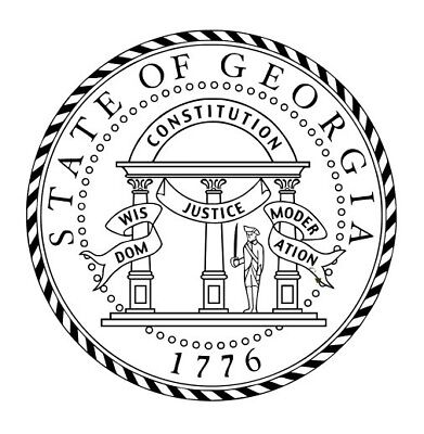 Great Seal for the State of Georgia Round Shiny Hand Held Embosser