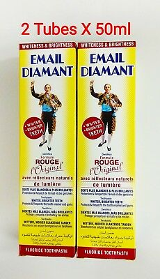 2X Email Diamant Original Rouge Formula Toothpaste Whiteness 50ml Free shipping