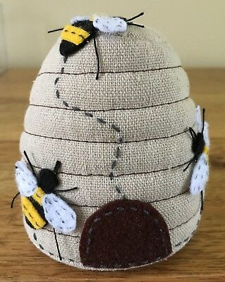 Pin Cushion Fabulous Applique Bee Hive Design