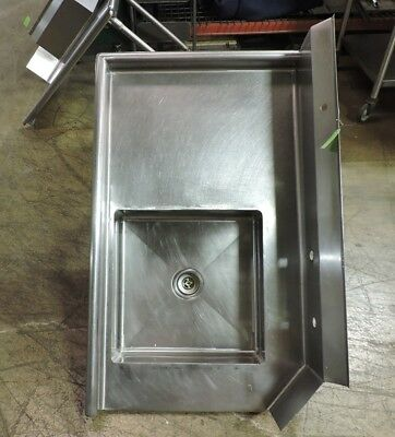 """Commercial Stainless Steel Left-Sided Dishwasher Table with Sink - 36"""" x 30"""""""