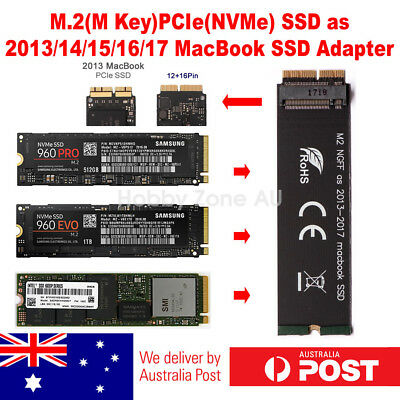 M.2 M-Key PCIe NVMe SSD to 2013/14/15/16/2017 Macbook 12+16 Pin SSD Adapter Card