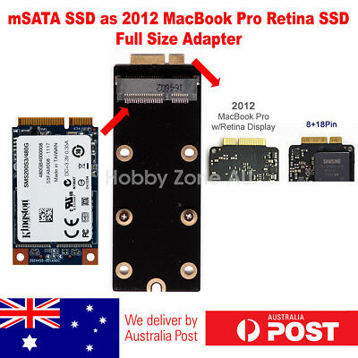 mSATA SSD to 2012 Macbook Pro Retina A1398 A1425 8+18Pin SSD Adapter Converter