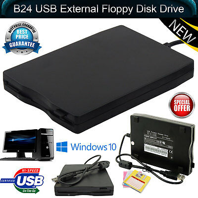 New 1.44MB USB External Floppy Disk Drive FDD 3.5″ For Mac Windows Laptop PC