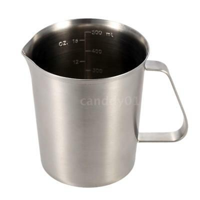 500ML Stainless Steel Milk Pitcher Jug Milk Foam Container Measuring Cup V0C7