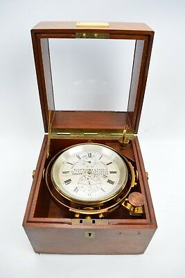Marine Deck Chronometer Alexander Dobbie & Son Glasgow Makers to the Admiralty
