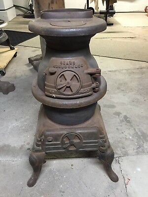 Small Cast Iron Pot-Bellied Wood Stove - Sears and Roebuck