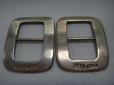 Pair Scottish Silver Buckles Glasgow 1913 At & S Andrew Taylor & Sons