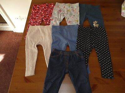 Bundle of 12-18m girls leggings Next, Tu + mothercare jeggings 12-18 months