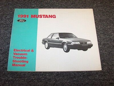 1991 ford mustang electrical wiring & vacuum diagram manual gt lx 2 3l