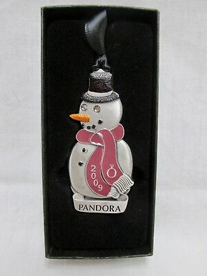 Authentic Pandora 2009 Snowman Christmas Tree Ornament 2nd in a Series