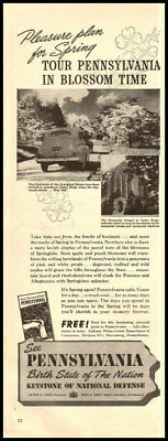 1941 vintage ad for Pennsylvania Vacations