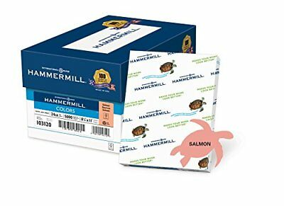 Hammermill Paper, Colors Salmon, 24lb, 8.5x11, Letter,  5000 Sheets / 10 ream Ca