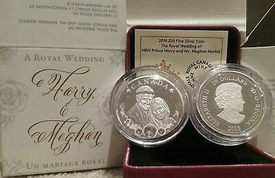 2018 Royal Wedding Prince Harry & Meghan Markle $20 Coin Canada Celebration Love