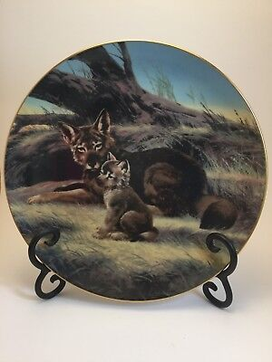 """The Red Wolf"" Collector's Plate #19761D by W.S. George/The Bradford Exchange"
