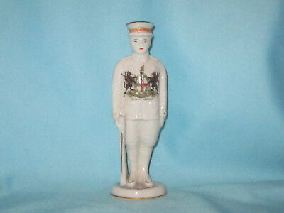 Carlton China WW1 Tommy At Attention - LONDON crest