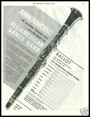 1941 vintage ad for All American Jazz band poll