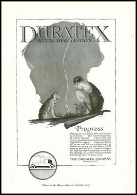 1920s vintage ad for Duratex Automobile Upholstery