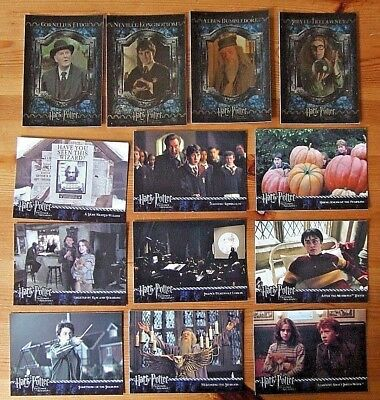 HARRY POTTER AND THE PRISONER OF AZKABAN CARDS x 13