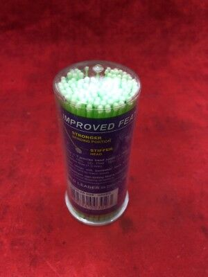 NEW PACK OF 100 MICROBRUSH Dental Micro-Applicators Regular Size Green 2.0mm