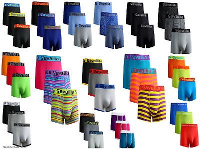 3, 6 & 12 Packs Men's Hipster Boxer Shorts Low Rise Brief Underwear Trunks Lot