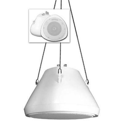 Speco Spc-Sp30Pt 30Watt 5.25 Pendant Speaker And Chain Wh