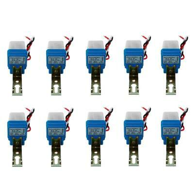 10Pcs Auto On Off Photocell Street Light Photoswitch Sensor Switch AC/DC 12V 10A
